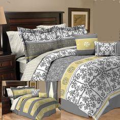 Persia Yellow Reversible 10 Piece Comforter Set