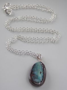 SALE Sterling Silver and Natural Opal Boulder by MalieCreations, $45.60