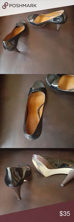 Guess Shoes - Seldom Worn Patten Leather Heels Guess Shoes Heels