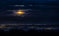 Moon Clouds and City   IFTTT InterfaceLIFT: Newest Wallpaper