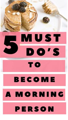 These helpful tips will help you become a morning person in no time! Wake up earlier, get past that dreadful alarm, and create a morning routine that will help you have the best and most productive start to the day! Evening Routine, Thing 1, Morning Person, Best Blogs, How To Wake Up Early, Life Advice, Time Management, Improve Yourself, Healthy Lifestyle