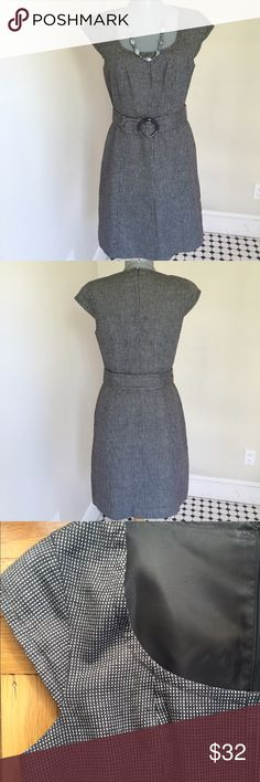 """Ann Taylor Dress.  Chic. Ann Taylor Dress.  Elegant.  17"""" between under arms. 30"""" waist.  38"""" hip area.  Skirt has an A line shape.  3rd picture represents the color and fabric best.  Very good condition.  Shoulder to hem 35"""".  Simple elegance. Ann Taylor Dresses"""