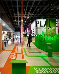 Making City, International Architectore Biennale, Rotterdam, 2012 Floor Signage, Wayfinding Signage, Signage Design, Exhibition Stand Design, Exhibition Display, Exhibition Space, Exhibition Ideas, Floor Decal, Floor Stickers