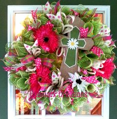 Hey, I found this really awesome Etsy listing at https://www.etsy.com/listing/385656370/front-door-wreath-summer-wreath-cross
