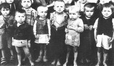 Serbian children in Croatian extermination camp Stara Gradiska, in 1942.