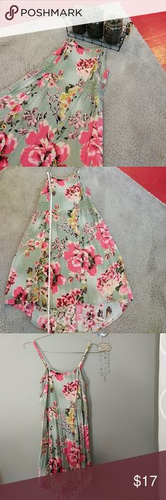 🚨  Floral & lace dress Color:  Description: Length: shoulder to front hem: 25.5 in Shoulder to back hem: 29 in Flat bust (measured under armpit w/o stretching fabric): 26 in  ❤️ Always open to offers/ questions! Discount for bundles of 2+ items! Mossimo Supply Co Dresses High Low