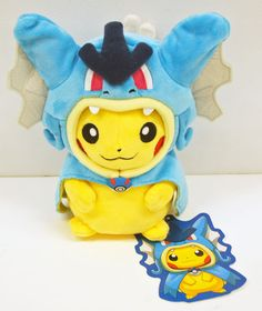 Pelucia Pokemon Pikachu Gyarados Cosplay