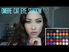 Make-Up: Ombre cat eye tutorial. YouTube
