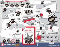 Ninja Party Birthday Package PRINTABLE / Ninja by ImaginationShake