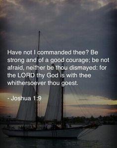 Joshua 1:9 KJV