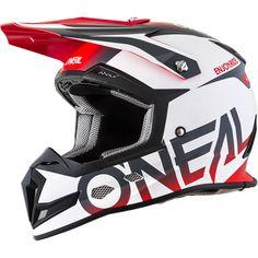 Oneal 2018 5 Series Blocker White/Grey/Red Helmet