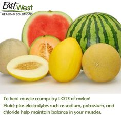 Heal your body naturally.  Check out how melons can help provide muscle cramp relief!