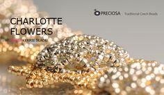 Bracelet made using PRECIOSA Charlotte and Rivoli seed beads: http://preciosa-ornela.com/images/pdf/project-charlotte-flowers.pdf