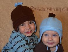 Fleece Hat with Ear Flaps - Tutorial and Printable Pattern for babies, children & adults!