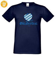 T-Shirt für Herren zum Volksfest bl - Oktoberfest Herz - Lustiges Funshirt als Geschenk oder Mitbringsel zur Wiesn, Größe:5XL - Shirts mit spruch (*Partner-Link)