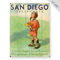 If you Can Dream San Diego Wall Art 14x20 - Artehouse