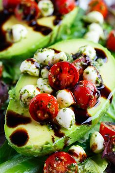 Caprese Stuffed Avocados Are Everything Good About Summer via @PureWow