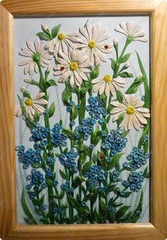 Мастер-класс Лепка Луговые цветы Тесто соленое фото 1