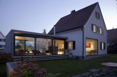 Anbau Siedlungshaus - Architecture Designs - ideas around the house - House Extensions, White Houses, House Goals, House In The Woods, Future House, Interior Architecture, Online Architecture, Building A House, New Homes