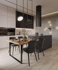 Home Room Design, Home Interior Design, Condo Kitchen, Modern Kitchen Design, Home Decor Kitchen, Kitchen Room Design, House Interior, Kitchen Decor, Kitchen Inspiration Design
