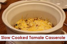 Slow Cooked Tamale Casserole