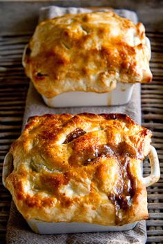 Steak and mushrooms pot pies |, took a while to cook, but we thought they were good