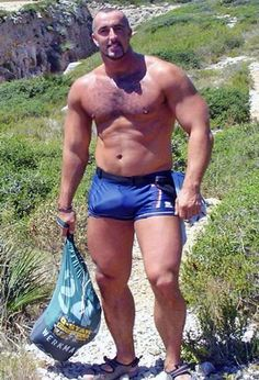 """Man with """"package"""" at the beach. James Allerton saved to Men"""