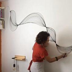 Creative Wall Painting, Wall Painting Decor, Mural Wall Art, Wall Decor, Creative Walls, Wall Paintings, Diy Room Decor, Bedroom Decor, Wall Murals Bedroom