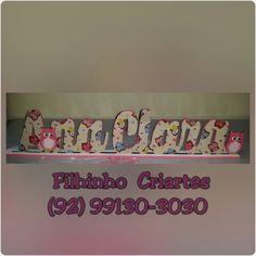 Ainda em continuação da pequena Ana Clara.  Nome decorado para ensaio fotográfico ou decoração do ambiente.   #artesao #artesanato #artesanatobrasileiro #artesanatobrasil #artesanatomanaus #comcarinho #decoupagem #decoracao #decopage #manausam #manaus #manauscity #mdf #mdfmanaus #mdfdecorado #parabebes #baby #babygirl #nomedecorativo #nomeemmdf #coruja .