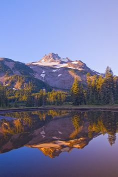 ✮ Mount Jefferson, Oregon, my husband and I went here while I was on nursing assignment at Salem, Oregon,  even swam in the lake very cold and it was even summer and the mountain still was snow capped.