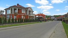 Коттеджи в центральной части посёлка