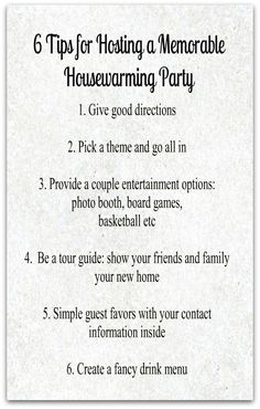 6 Tips for Hosting a Memorable Housewarming Party | Greenvelope