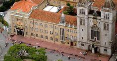 Vista do Mosteiro São Bento, no centro de São Paulo. Foi neste belo mosteiro paulistano, cuja primeira construção data de 1598, que o papa Bento 16 ficou hospedado em sua visita à capital paulista em 2007