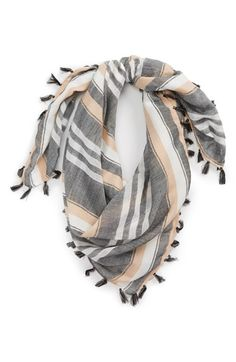 BP. Stripe Tassel Scarf available at #Nordstrom