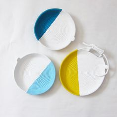 The Design Files Open House, Gemma Patford Hand Painted Rope Coil Vessels www.gemmapatford.com Gemma Patford