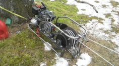 Josh Smith has built his own 5-speed powered winch for towing sledders back to the top of long hills.