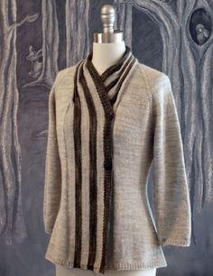 Ribbon Candy Cardigan knitting pattern