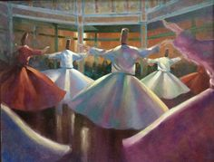 """""""The Whirling Dervish"""" oil on canvas by Trevor Waugh"""