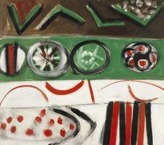 """"""" Terry Frost (British, Khaki and Emerald Green, Oil on canvas, 29 x in. Contemporary Art London, Patrick Heron, Paintings I Love, Abstract Art, Abstract Paintings, Frost, Oil On Canvas, Bee, Kids Rugs"""