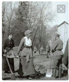 Tatiana Nikolaevna under house arrest in 1917