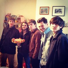 This is incredible band Where's Strutter with a cake Jessie made for them. They are called the next Stone Roses and their session films are on our site. #wheresstrutter #cake #band #rockmusic #stoneroses #guitarist #leadsinger #singer #livemusic #rocknroll #rock #guy #happy #laugh #studio #sesssion #instadaily #summer #love #legend #epic #sun #handsome #funny #festival http://www.stpaulslifestyle.com/listed-artist/818/Wheres-Strutter