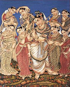 Lord Sri krishna with his 8 wives
