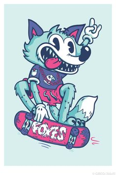 Skater Fox © Greg Abbott Created (YMD) 2012-06-07.