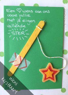 Wens kerstkaart zelf maken - hier vind je het stappenplan met foto's - gemaakt door het creatief lifestyle blog www.badschuim.eu