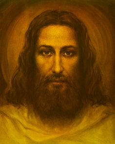 Face of Christ reproduced from the Shroud of Turin