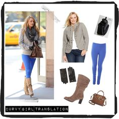 Great pieces that translate Blake Lively's urban chic look for the Curvy Girl! Plus size.