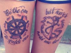 Thigh Anchor Tattoo