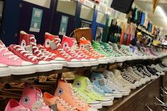 Colorful hightop converse sneakers