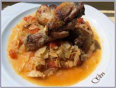 Lecker mit Geri: Weißkohl mit Hähnchen im Ofen auf bulgarische Art - Прясно зеле с пилешко месо на фурна