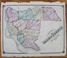 Map Long Branch NJ Antique Maps And Charts Original Vintage - Antique map reproductions for sale